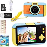 ToyZoom Children's Camera 24MP Digital Camera 1080P HD Camcorder Boys Girls Selfie Camera with 32GB SD Card, 2.4 Inch, Kids B