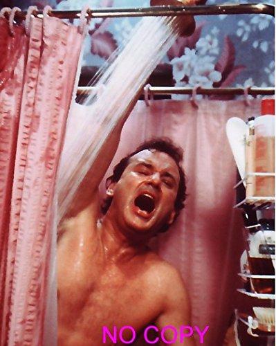 大きな写真、ビル・マーレイ、シャワーを浴びながら「ギャー」