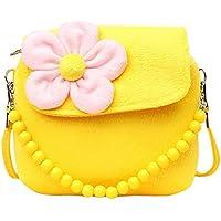 Bullidea Kids Handbag Little Girl's Cute Princess Coin Purse Beaded Shoulder Bag Package for Toddlers Preschoolers