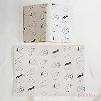 紙製ブックカバー+しおり 広重「浮世画譜」猫 再生紙