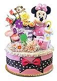 出産祝い ディズニー ミニー おむつケーキ カーター ダイパーケーキ 女の子 パンパース (W) DK1088-M