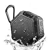 【ファッション生活館】Bluetooth スピーカー 小型 ワイヤレススピーカー 高音質 マイク搭載通話可能 ポータブルスピーカー 防水 防塵 防振 アウトドア(12時間連続再生) (ブラック)