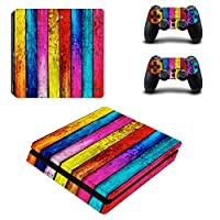 Linyuan 安定した品質 0036* Skin Sticker Vinyl Decal Cover for PlayStation PS4slim Console+Controllers