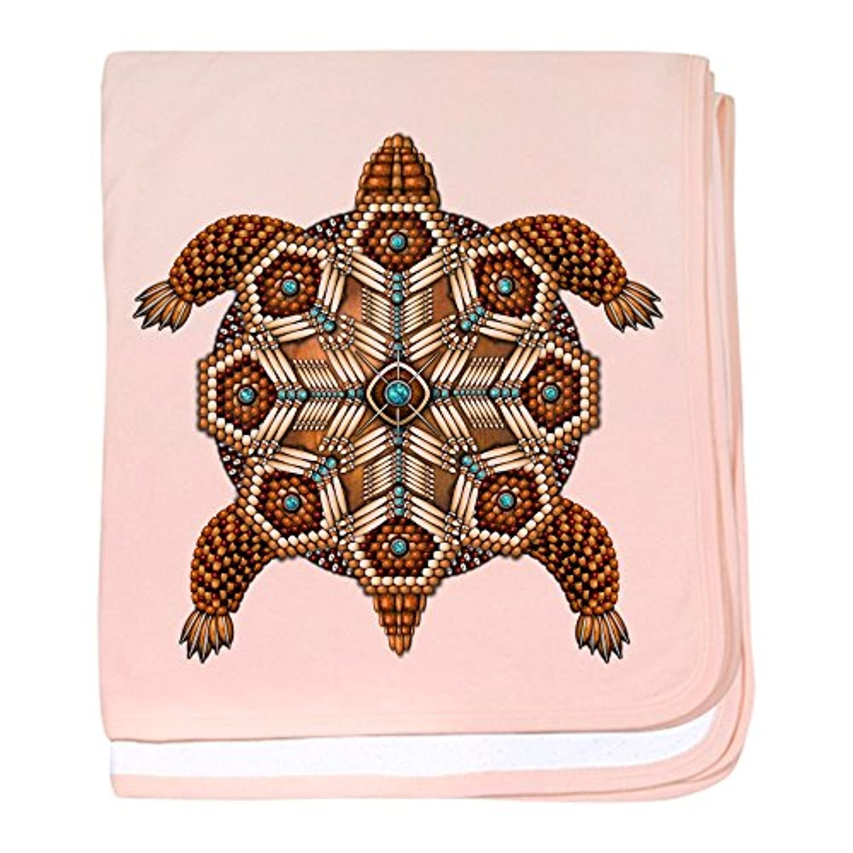 CafePress – Native American Turtle 02 – スーパーソフトベビー毛布、新生児おくるみ ピンク 06730369986832E