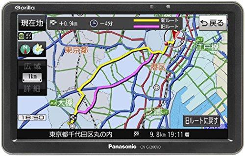 パナソニック ポータブルカーナビ ゴリラ CN-G1200VD 7インチ VICS WIDE ワンセグ SSD16GB バッテリー内蔵 ...