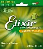 Elixir エリクサー マンドリン弦 NANOWEB Medium .011-.040 #11525 ループエンド仕様 【国内正規品】