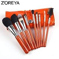 NOTE ZOREYA 9ピース/セット馬毛メイクブラシセットオーバルメイクブラシとして化粧品ツールキットブラシホルダー