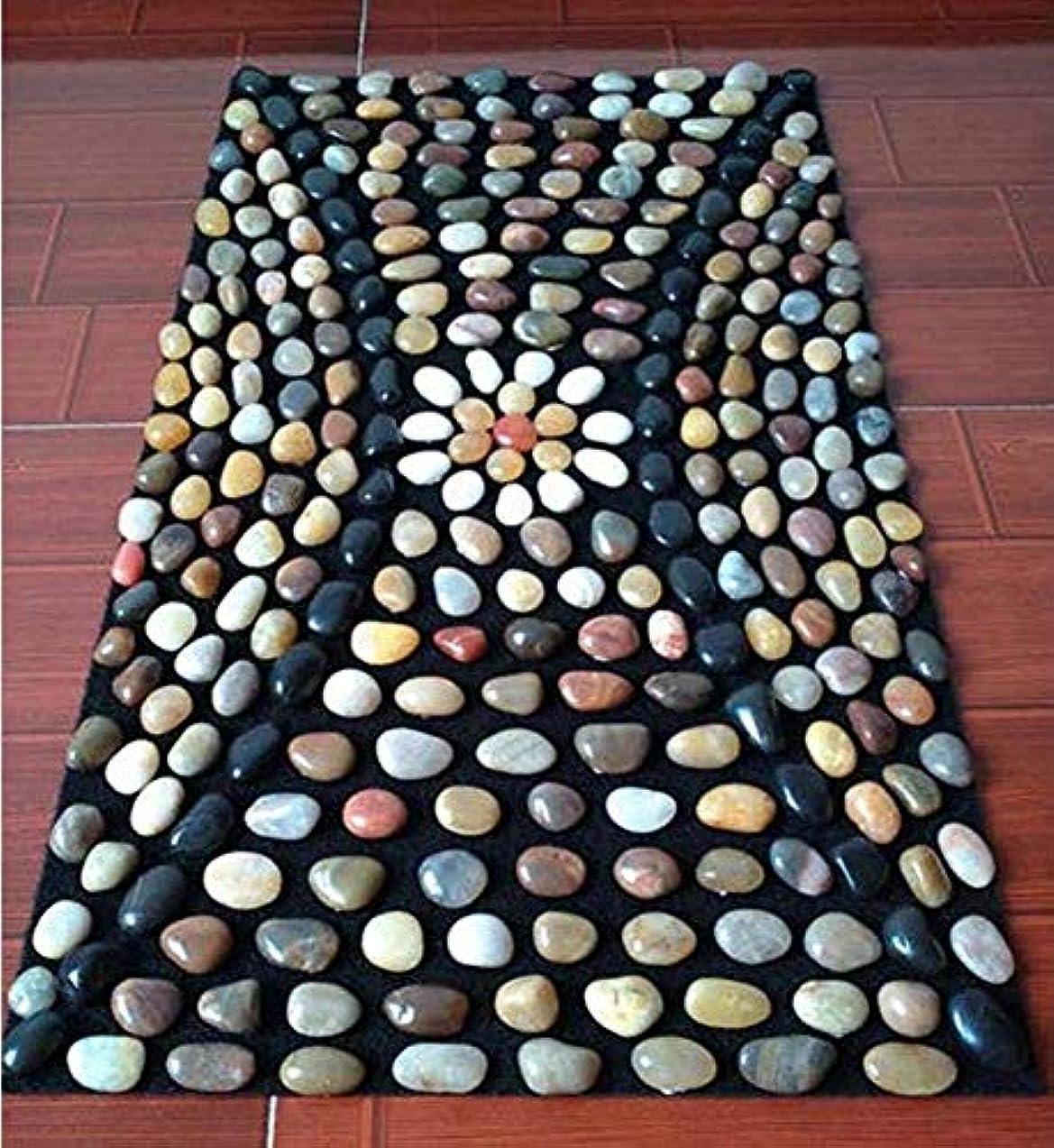 貫入邪魔する爆発物一般的な目的は、ストレスを緩和しますYuhua Stone Pebble Foot Massage Pad Home Pedicure Blanket Gravel Shiatsu Foot Massager Pad Plate(70 * 40cm)