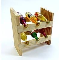 ミニチュア家具 木製ワインセラー ワイン6本 DH-007【ドールハウスパーツ】