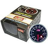 オートゲージ(AUTOGAUGE) SM60電圧計 ブラックフェイスホワイトLED ワーニング機能付 60パイ 60AVOSWL270