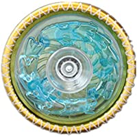 ヨーヨーは、カラフルな光沢のある金属ヨーヨーボール(緑)を導きました (黄色)