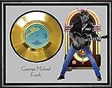 ジョージ・マイケル・Faithゴールドビニールレコードフレーム入り表示