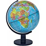 Waypoint Geographic Scout World Globe- Great Quality Globe for Kids & Teachers- More Than 4,000 Name Places- Great Color & Unique Construction- Up-to-Date World Globe- Geography Globe with Stand- 12Ó