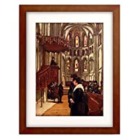 フェルディナント・ホドラー Ferdinand Hodler 「Prayer in the Cathedral Saint Pierre in Geneva」 額装アート作品