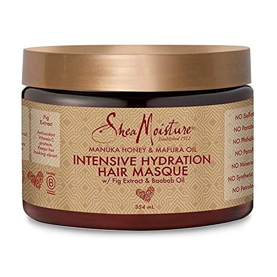 直感屋内説得[Shea Moisture ] シア水分マヌカハニー&Mafuraオイルヘア仮面の354ミリリットル - Shea Moisture Manuka Honey & Mafura Oil Hair Masque 354ml...