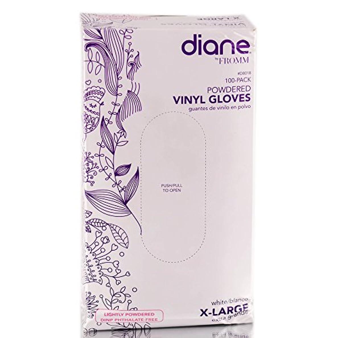 Diane D8018ビニール手袋パウダー、100カウント 特大