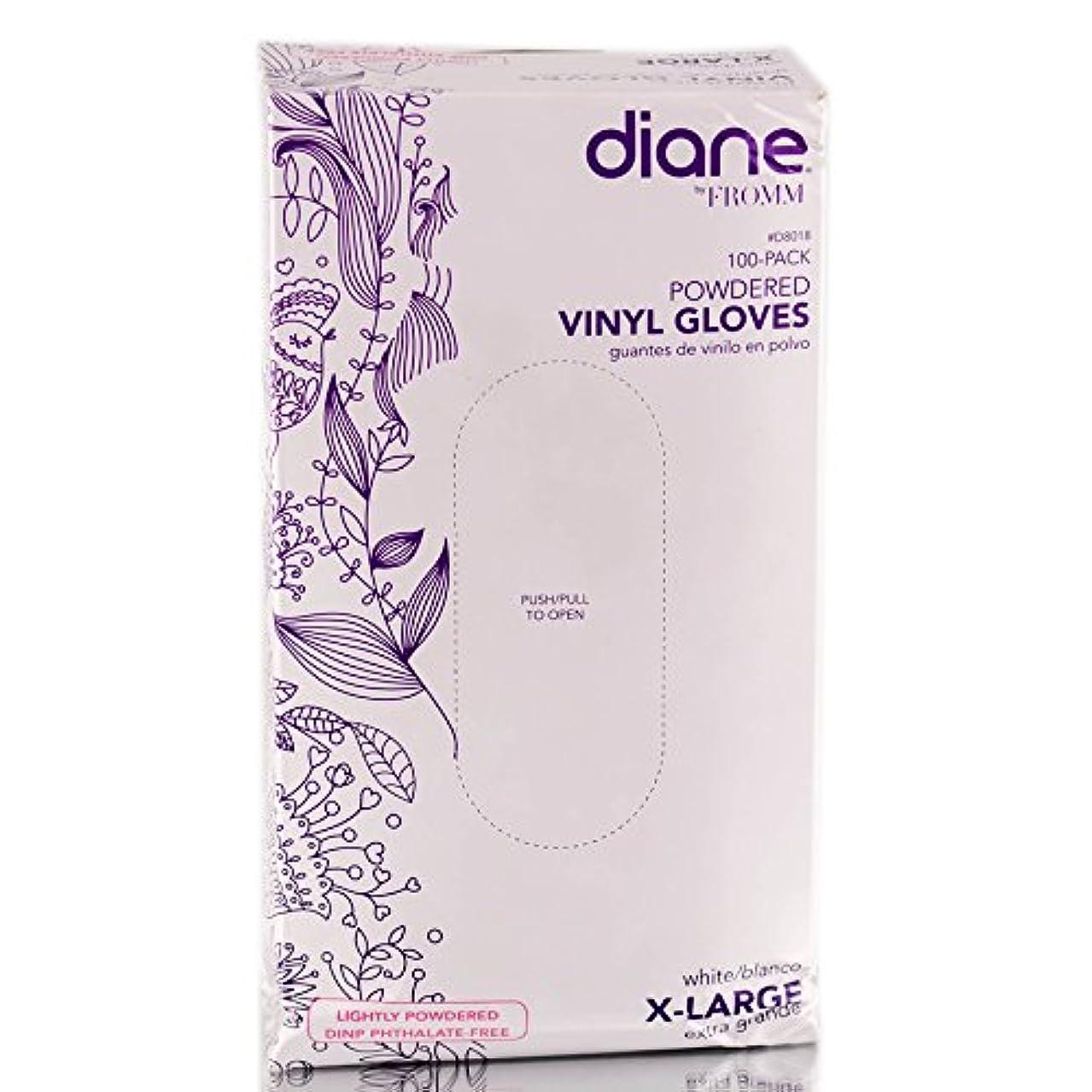志す魅惑的な特性Diane D8018ビニール手袋パウダー、100カウント 特大