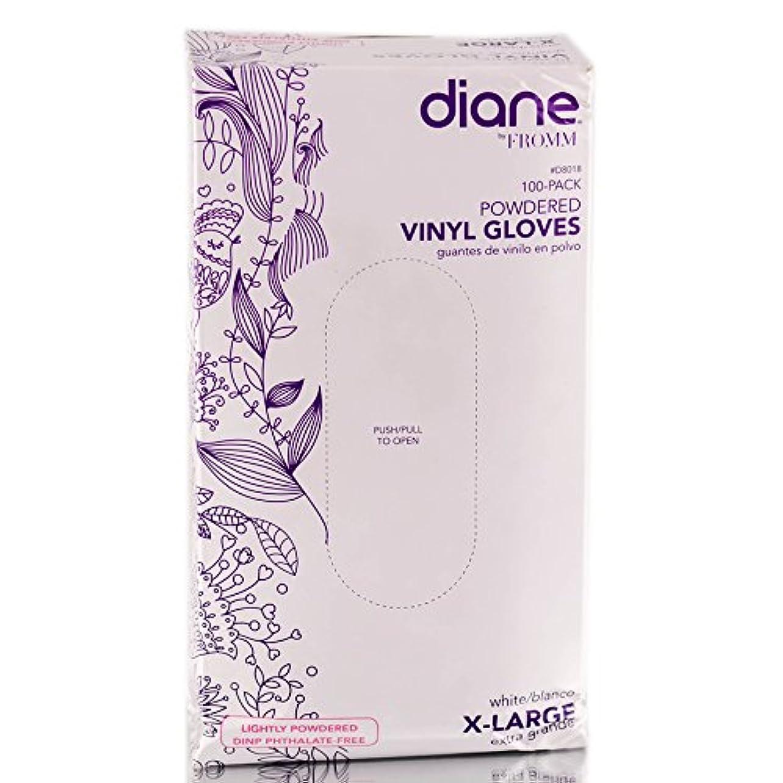 開業医純粋に取り囲むDiane D8018ビニール手袋パウダー、100カウント 特大