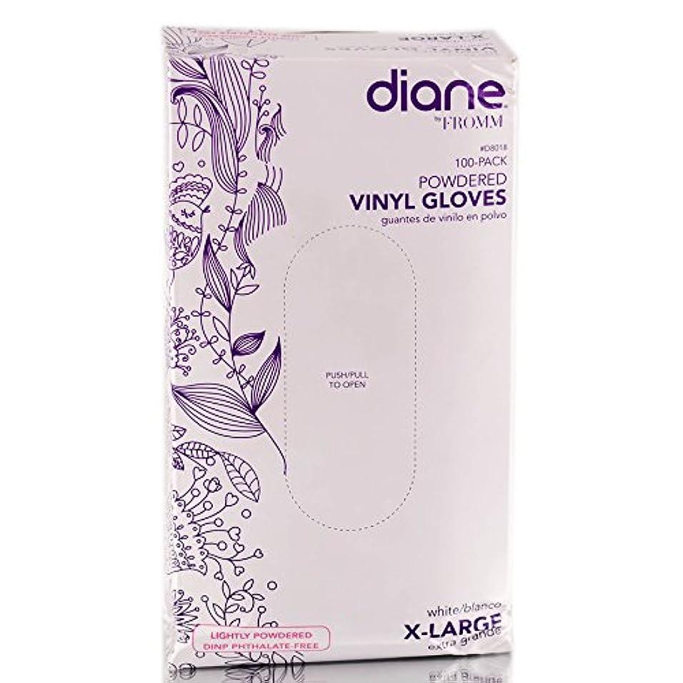 ライナーファランクス臨検Diane D8018ビニール手袋パウダー、100カウント 特大