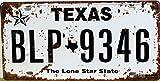 (T-Brezza) 選べる ブリキ 看板 ナンバー プレート アメリカン アンティーク ヴィンテージ レトロ ポストカード シール セット (テキサス)