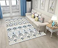 Yiwanda ラグマット 絨毯カーペット ラグカーペット 長方形 四角 おしゃれ 洗える 厚手 滑り止め (160*230CM,27)