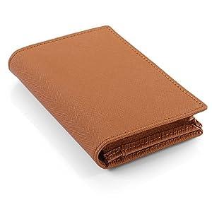[レガーレ] カードケース 本革 大容量 磁石でキッチリ閉まる安心設計 (化粧箱入り) 名刺入れ ブラウン