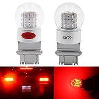 AMAZENAR 2-Pack 3156 3157 3056 3057非常に明るい低電力赤色LEDライト12V-DC、AK-3014 39 SMD車の交換用電球ブレーキライトテールバルブ
