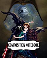Composition Notebook: Series Movies The Force Awakens Wide Ruled Composition Notebook Star Wars Gifts Soft Glossy with Ruled Lined Paper for Taking Notes Writing Workbook for Teens and Children Students School Kids Inexpensive Gift For Boys and Girls