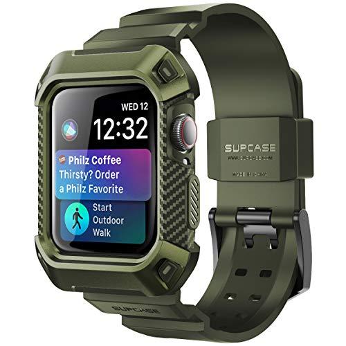 SUPCASE Apple Watch Series 4 40mm 保護ケース バンド 衝撃吸収 アップルウォッチ シリーズ 4 対応 カバー (深緑)