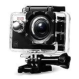 スポーツアクションカメラ、エクスプローラS、WiFiカム4K 30FPS 170°アクセサリキット付きソニーセンサー防水ケース - ブラック