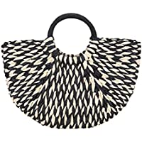 Straw Handbag,Women Fashion Weave Summer Beach Tote Travel Holiday Top Handle Bag Shoulder Bag