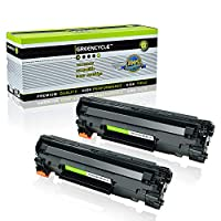 Greencycle 2パック互換トナーカートリッジ交換セットfor HP ce285 a 85 A for use in HP LaserJet Pro p1102 / p1102 W / p1109 W / m1217nfw / m1212nf / m1132