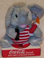 Coca Cola Plush Collection 24cm Elephant in Swim Trunks with Bottle