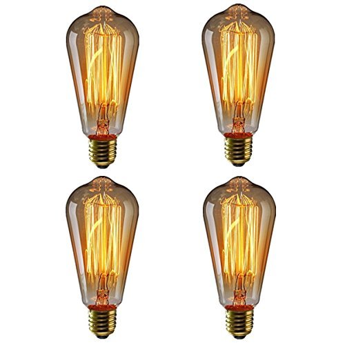 RoomClip商品情報 - エジソン電球40W KINGSO 4個入 E26 110V ST64-19アンカー レトロガラスライト ホーム照明装飾用器具