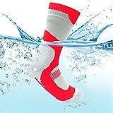 WATERFLY(ウォーターフライ) 防水ソックス 防水靴下 完全防水 通気 ゴアテックス 登山 スキー 通勤 釣り レッド M