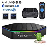 EASYTONE T95Z Plus Android TV Box 3GB 32GB,Android 7.1 TV Box Amlogic Octa-Core,Dual-Band Wi-Fi 2.4/5.8G Smart Boxes Android