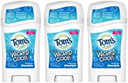 Tom's of Maine Aluminum-Free Wicked Cool! Natural Deodorant for Kids, Freestyle, 1.6 oz. 3-