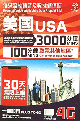 ATTハワイ・アメリカ本土 プリペイドSIM 30日 データ容量8GB 大容量通話付き