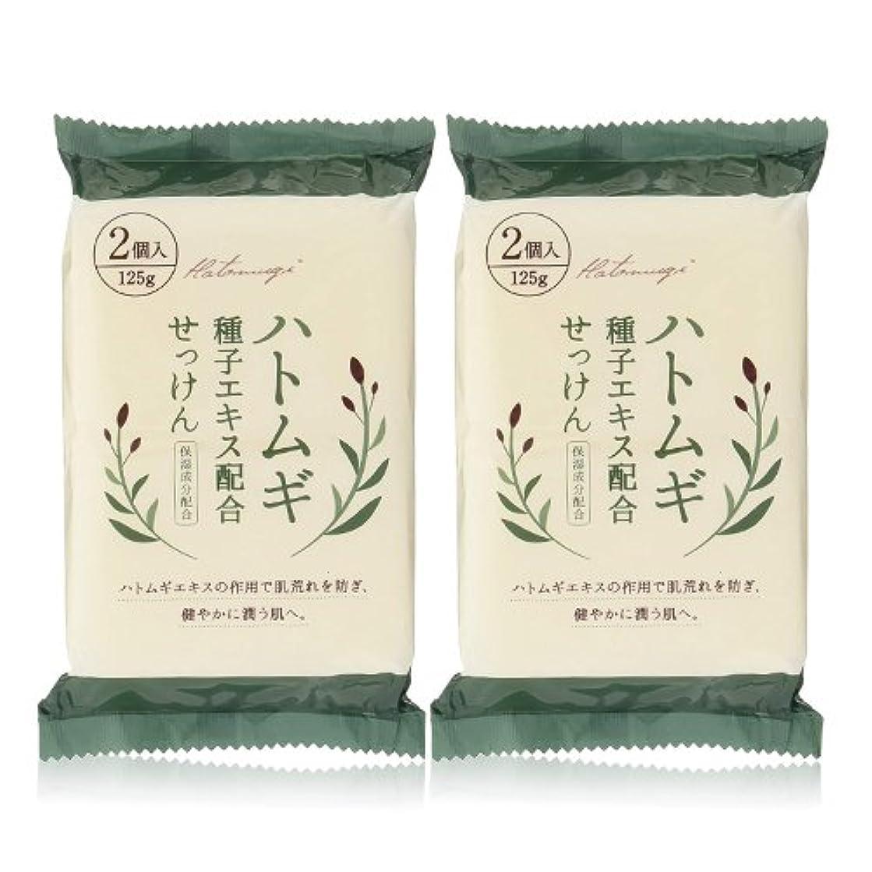安西憲法野なハトムギ種子エキス配合石けん 125g(2コ入)×2個セット(計4個)