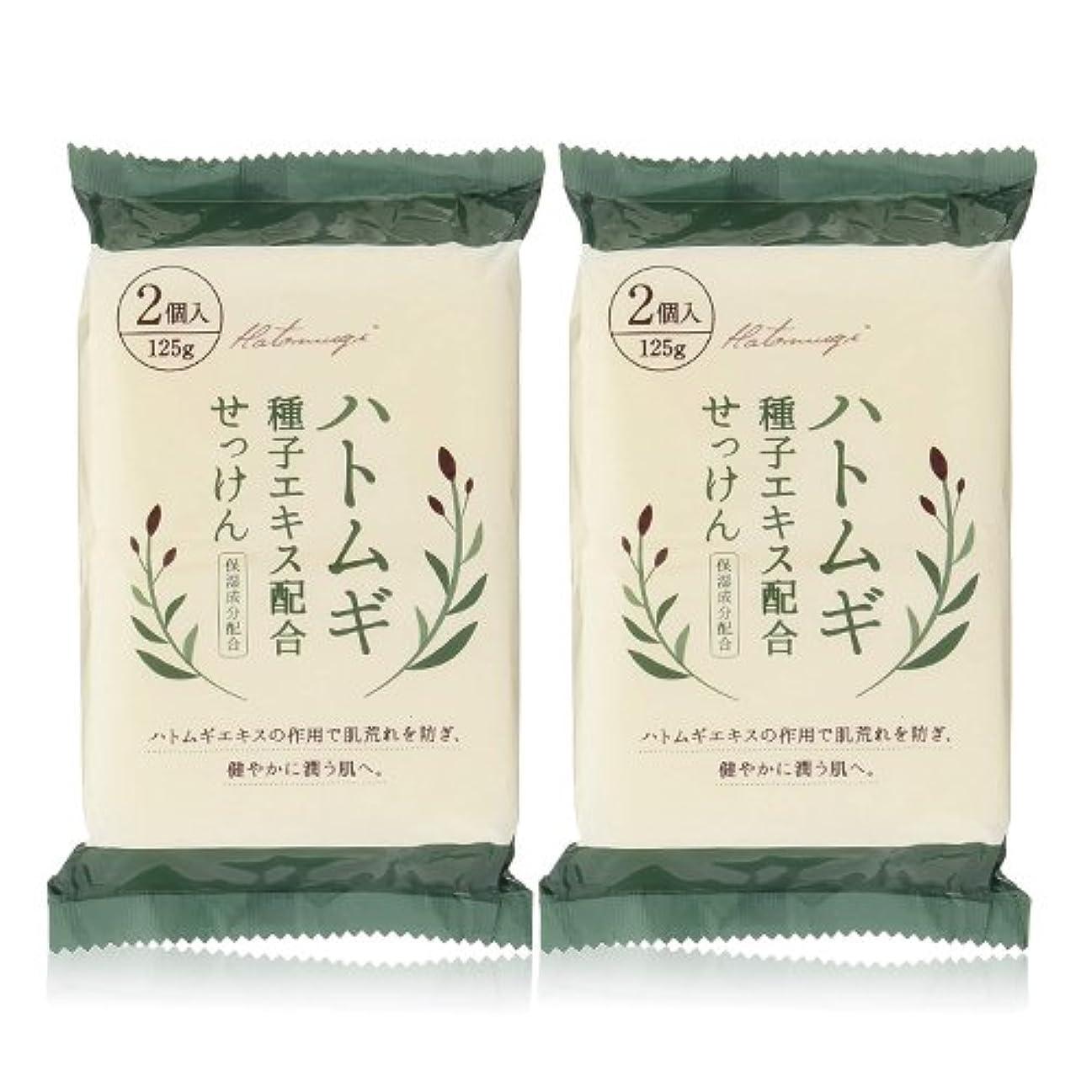 沿って父方のナイロンハトムギ種子エキス配合石けん 125g(2コ入)×2個セット(計4個)