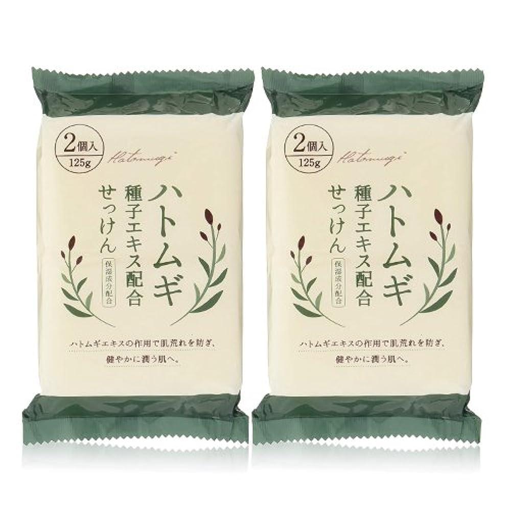 鼻ブームパンチハトムギ種子エキス配合石けん 125g(2コ入)×2個セット(計4個)