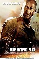 DIE HARD 4-ブルース・ウィリス–インポートされた映画の壁ポスター印刷– 30CM X 43CM LIVE FREE OR DIE HARD