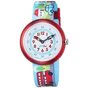 [フリック フラック]FLIK FLAK 腕時計 HIGHWAY TO UK (ハイウェイ・トゥ・ユーケー) Story Timeキッズ 男女兼用 FBNP077 ア・トリップ・トゥ・ロンドン 【正規輸入品】 FBNP077 ボーイズ 【正規輸入品】