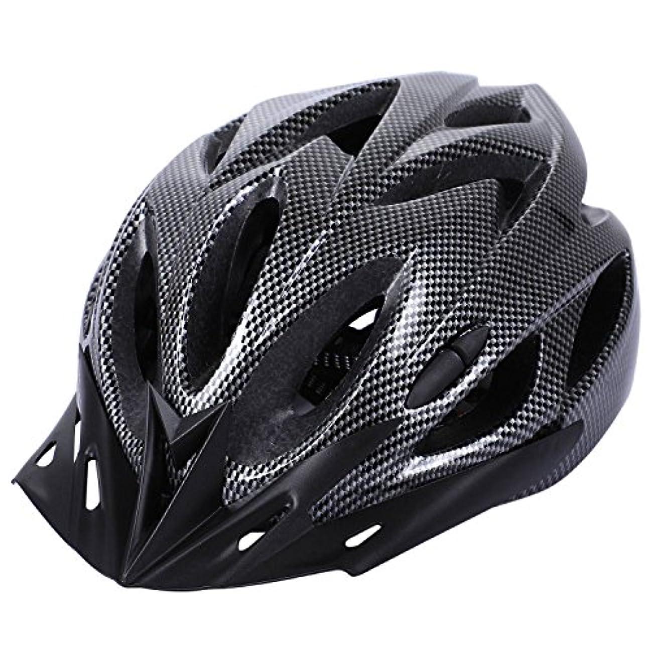 どちらもデクリメント突き刺すCikuso カーボン自転車ヘルメットバイクMTBサイクリング大人調節可能なユニセックス安全ヘルメット