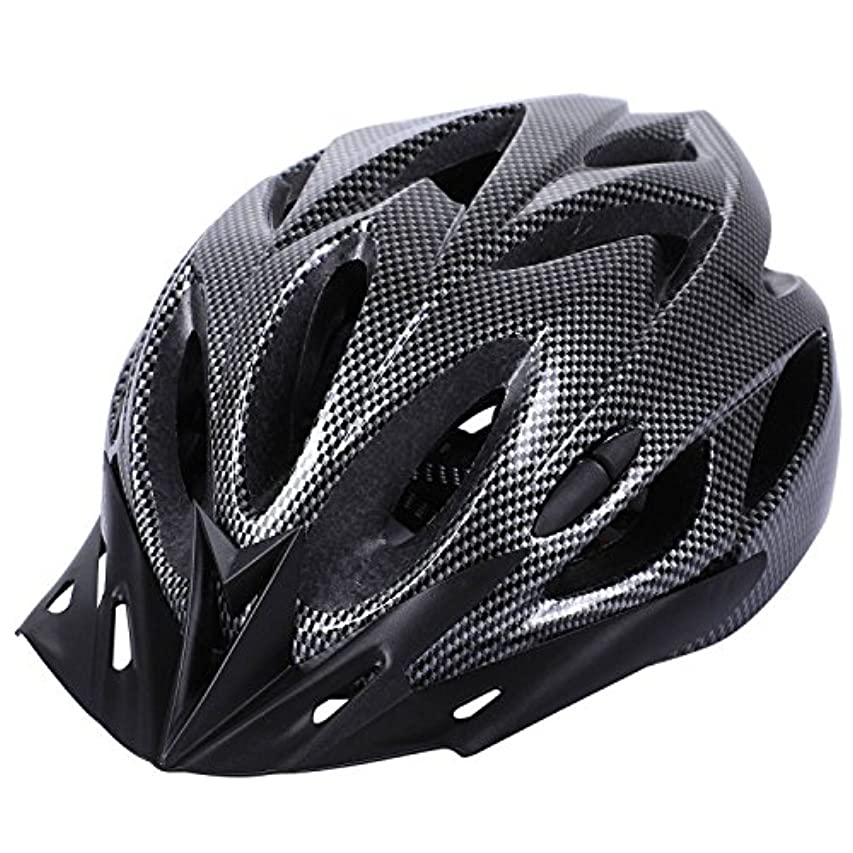 受益者座標表示Semoic カーボン自転車ヘルメットバイクMTBサイクリング大人調節可能なユニセックス安全ヘルメット