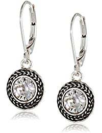 Napier Color Declaration Swarovski Lever-Back Drop Earrings