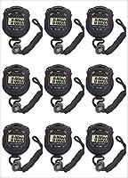 10個/ロットデジタルハンドヘルド多機能プロフェッショナル電子クロノグラフスポーツストップウォッチタイマーストップウォッチのFomaTradeパック(XL-013)