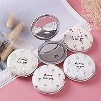 HuaQingPiJu-JP ミニラウンド植物のパターン小さなガラスミラー工芸品の装飾化粧品アクセサリーのための円