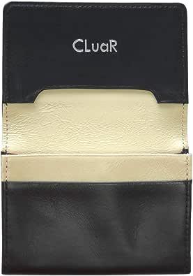 (シールアル) 名刺入れ 本革 50枚収納 レザー 革 カードケース サブポケット ササマチ W字マチ 大容量 バイカラー CLuaR-BI