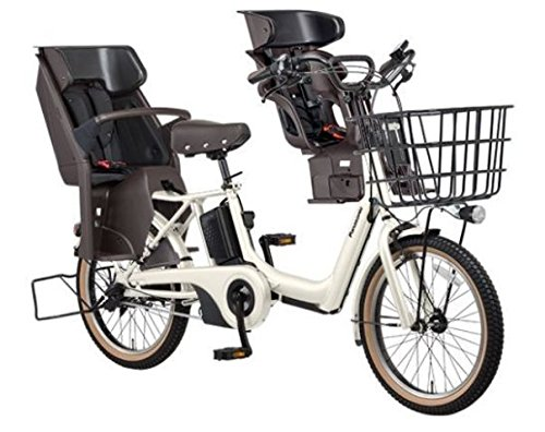2018年モデル Panasonic(パナソニック) GYUTTO ANNYS(ギュット アニーズ) 3人乗り対応電動自転車 BE-ELA03A 純正フロントチャイルドシート付き